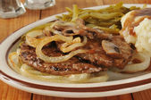 Salisbury steak with onions — Stock Photo