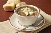 Cup of lentil soup — Stock Photo