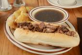 Roast beef sandwich — Stock Photo
