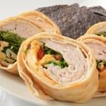 Turkey wrap sandwich — Stock Photo #56081473