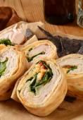 Turkey wrap sandwich — Stock Photo