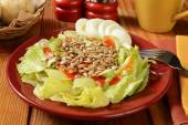 Salad with sunflower seeds and eggs — Foto Stock