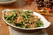 Green bean and onion casserole — Stock Photo
