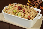 Holiday stuffing with cranberries — Stockfoto