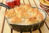 Chicken biscuit casserole — Stock Photo