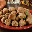 Постер, плакат: Swedish meatballs appetizer