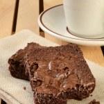 Fresh brownies and coffee — Stock Photo #61522547