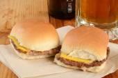 Cheeseburger slider sandwiches — Stock Photo