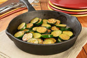 Sauteed zucchini squash — Stock Photo