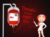Spenden blut leben retten — Stockfoto