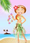 Chica hawaiana — Foto de Stock