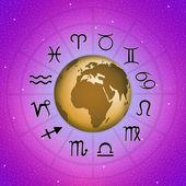 Horoscope zodiac signs — Stock Photo