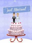 свадебный торт для гей-пары — Стоковое фото
