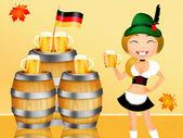 慕尼黑啤酒节啤酒 — 图库照片