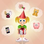 Ragazza di compleanno — Foto Stock