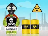 Radiação de perigo — Foto Stock