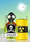 Danger d'irradiation — Photo