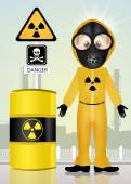 Radiation hazard risk — Stock fotografie