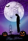 Hřbitov halloween — Stock fotografie