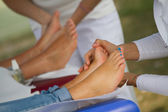 Reflexology massage — Stock Photo