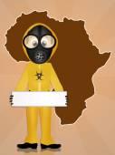 Alert virus ebola — Stock Photo