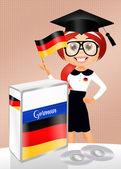 Tyska språkkurs — Stockfoto