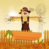 Scarecrow in autumn — Stock Photo
