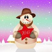 Snowman for 2015 — Stockfoto