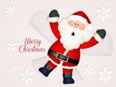 Santa Claus in the snow — Stock Photo
