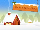 Santa Claus home — Stock Photo