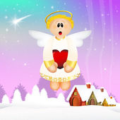 Funny angel — Stock Photo