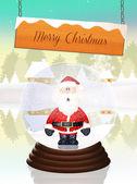 Bola de cristal de navidad — Foto de Stock
