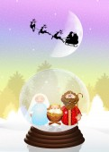 Sleigh of Santa Claus — Zdjęcie stockowe