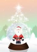 Kerstmis kristallen bol — Stockfoto