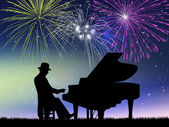 New Year concert — Stock Photo