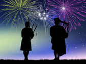 Pipers in concert — Stock Photo