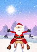 Santa Claus on sleigh — 图库照片