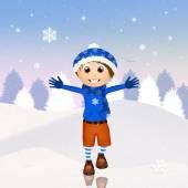 Happy child in winter — Zdjęcie stockowe
