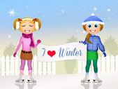 Miluji zimní — Stock fotografie