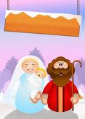 Christmas Nativity scene — Stock Photo