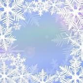 框架的雪花 — 图库照片