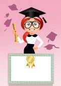 Illustration of degree — Stock Photo