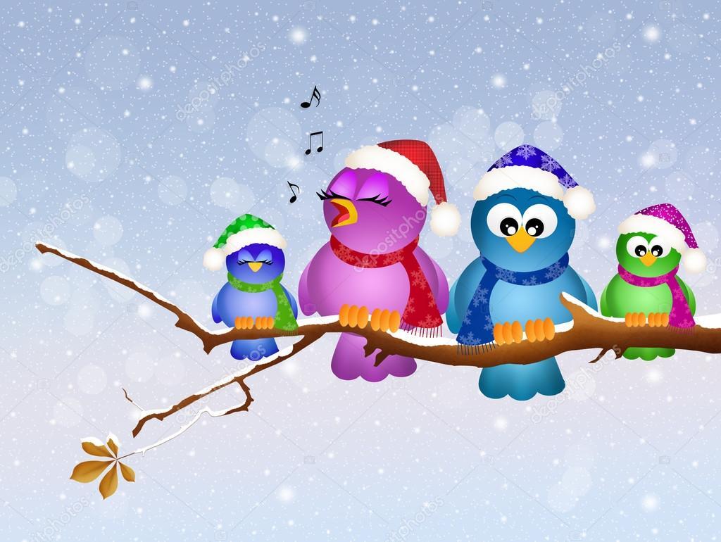 Картинка с изображением зима птицы картинки