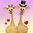 Giraffe in love — Stock Photo #59552275