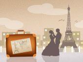 Honeymoon in Paris — Stock Photo
