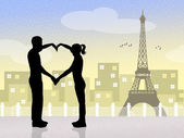 パリの恋人 — ストック写真