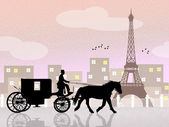 Carriage ride in Paris — Stock Photo