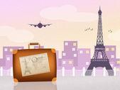 Reis naar parijs — Stockfoto