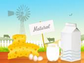 Natural dairy product — Stockfoto