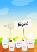 Yogurt — Foto Stock